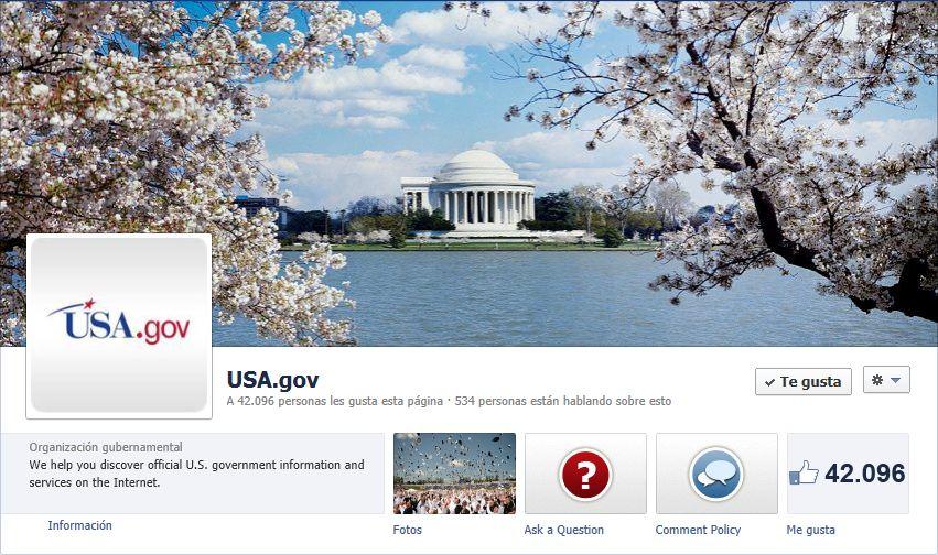 Página de Facebook de los Estados Unidos de Norteamérica