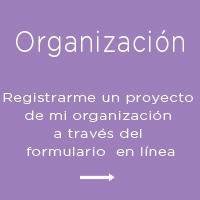 Registro en un proyecto de mi organización
