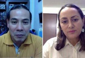 doctor Tonatiuh Lay y doctora María Elena Anguiano