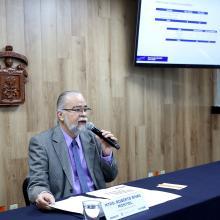 Maestro Roberto Rivas Montiel, en conferencia de prensa