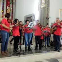 Agrupación durante el concierto