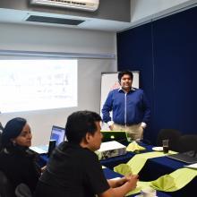 Estudiantes durante el coloquio de la maestría en Docencia para la Educación Media Superior