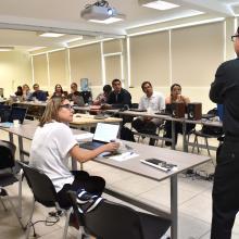 Estudiantes del Doctorado en Sistemas y Ambientes de Aprendizaje durante el Noveno Coloquio Anual