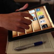 Libros electrónicos en dispositivo móvil