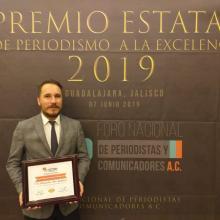 """Maestro Julio Ríos premiado en la categoría de finalistas al Premio Nacional de Periodismo """"Veritas in Verbis"""""""