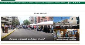 Página principal del sitio web UNOSTRES