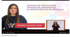 La académica Claudia Camacho Real habló sobre los esfuerzos de UDGVirtual para lograr la inclusión educativa