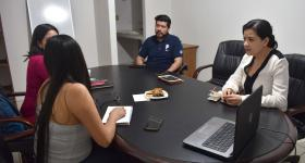 Reunión con estudiantes