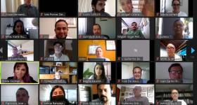 participantes en la sesión de bienvenida de la maestría en Valuación