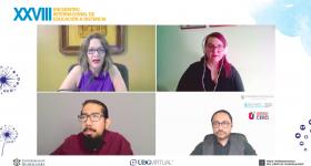 """Participantes del panel """"Transformaciones socioculturales en el marco de la cultura digital"""""""