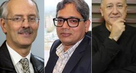 Doctor Alain Abran, doctor Sanjaya Mishra y doctor Carlos Scolari