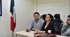 Víctor Javier Ruíz Díaz y Grecia Alejandro López, quienes participaron por medio del programa Verano de Investigación Científica de la Universidad Juárez Autónoma de Tabasco