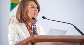 Dra. María Esther Avelar, rectora del Sistema de Universidad Virtual