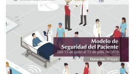 Postal del curso, imagen de médicos y pacientes