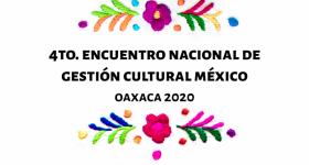 Logo del encuentro con flores bordadas en la parte superior e inferior
