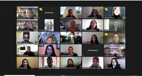 Participantes de la ceremonia virtual