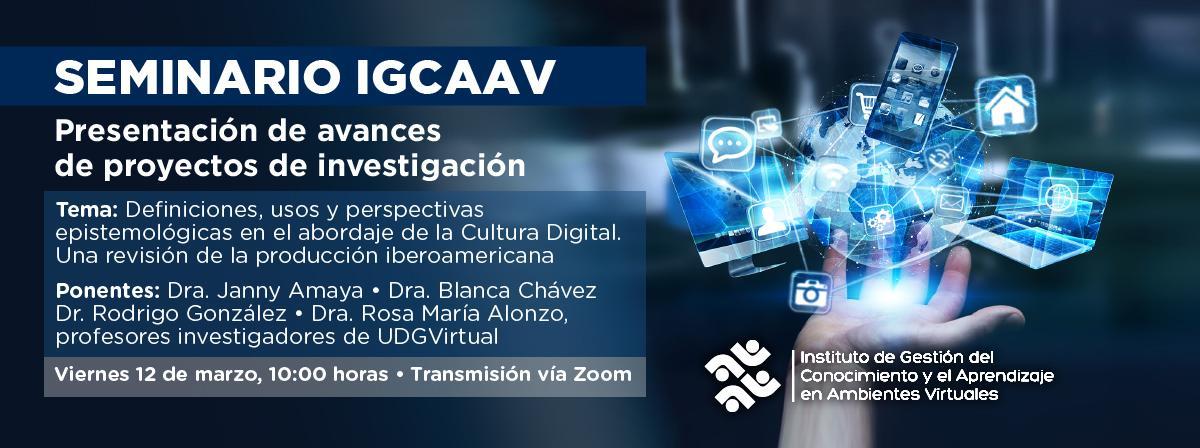 Seminario IGCAAV, 12 de marzo 10 horas