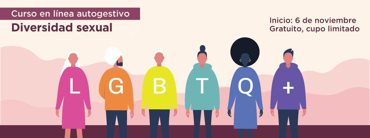 """Curso en línea autogestivo """"Diversidad sexual"""" inicio 6 de noviembre"""