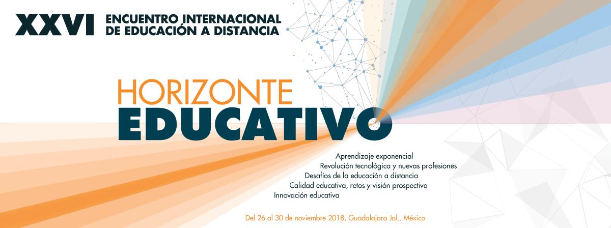 Vigésimo sexto Encuentro Internacional de Educación a Distancia participa del 26 al  30 de noviembre