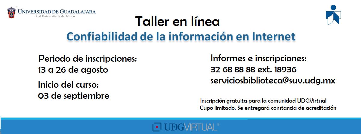 Taller en línea - Confiabilidad de la Información en Internet
