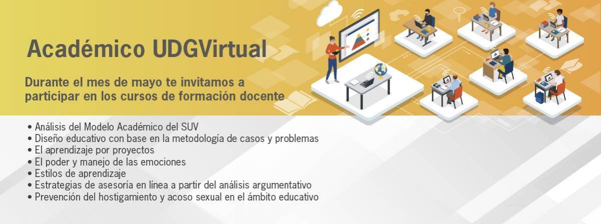 Académico de UDGVirtual, participa en los cursos de formación docente