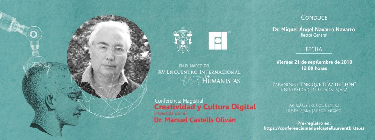 Conferencia Creatividad y Cultura Digital, Viernes 21 de septiembre 12 horas.