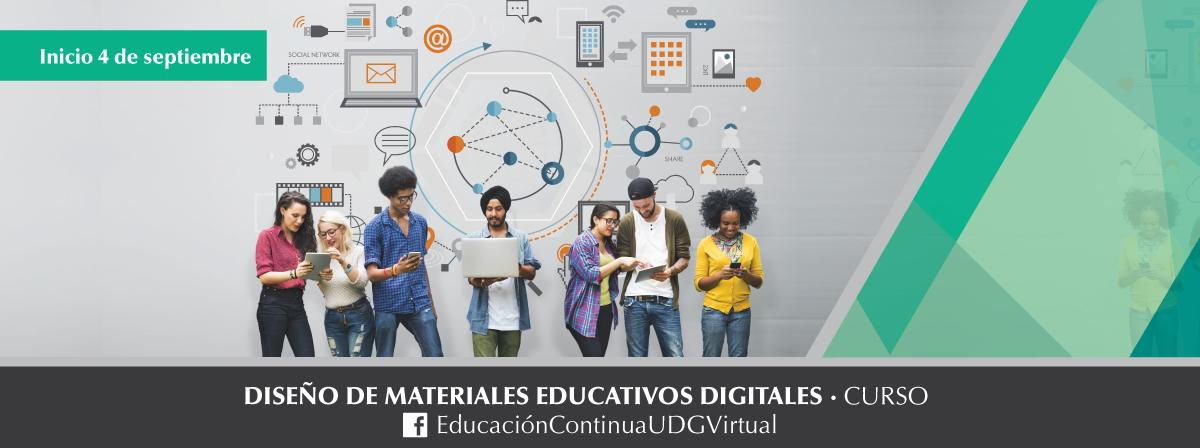 Curso de Diseño de materiales educativos digitales