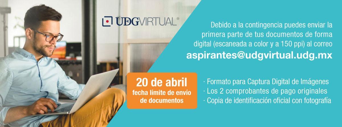 Por contingencia los documentos de aspirantes se podrán recibir de forma digital