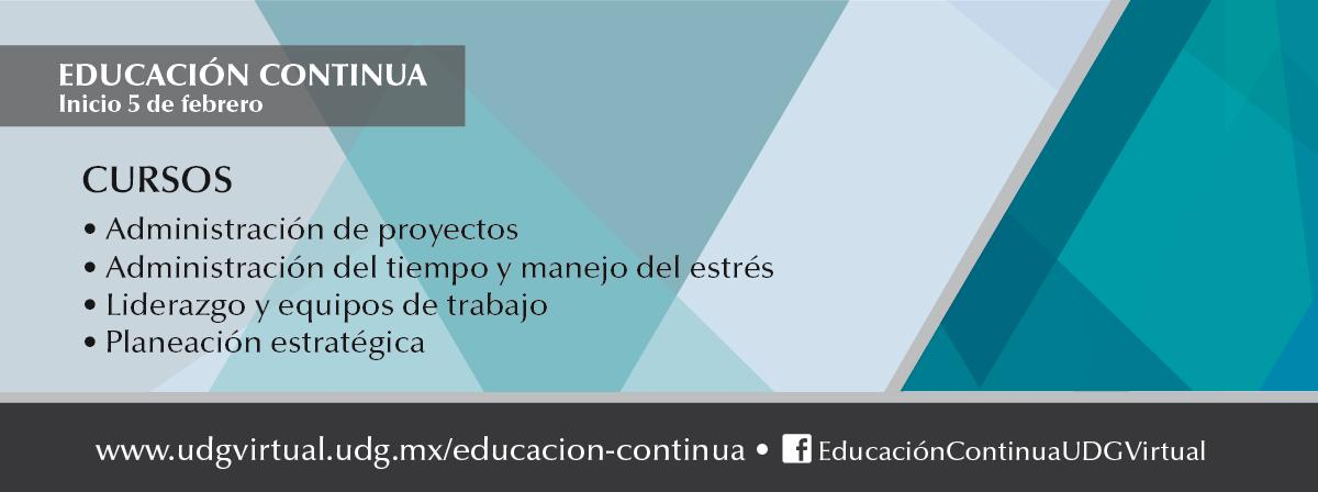 Próximo 5 de febrero inicio de cursos, educación continua UDGVirtual