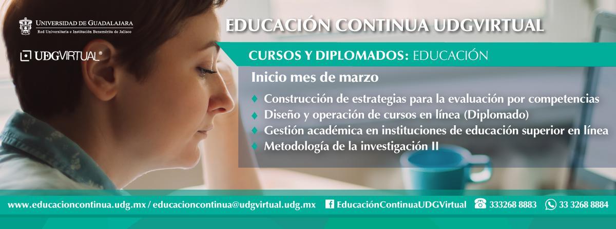 Inicio de cursos de educación, inscríbete durante el mes de marzo