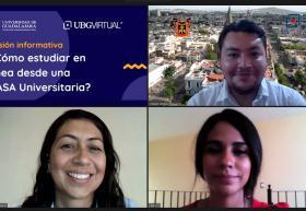 Participantes de la charla virtual