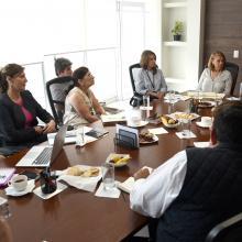 Representantes de las distintas instituciones, durante la reunión diplomado para capacitar al personal de hospitales del país