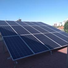 Celdas solares ubicadas en sede Casa La Paz