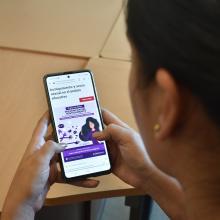 sitio web del curso, visto desde un celular