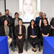 Autoridades de UDGVirtual y comité evaluador de CAESA