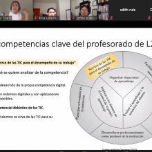 Presentación en línea de la alumna del doctorado
