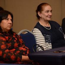 Autoras de dos de las publicaciones presentadas en el Encuentro Internacional de Educación a Distancia