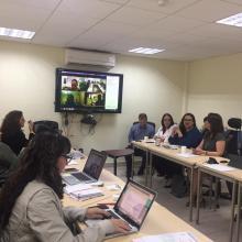 Participantes de la reunión de la Red de Bachilleratos Universitarios Públicos y a Distancia,