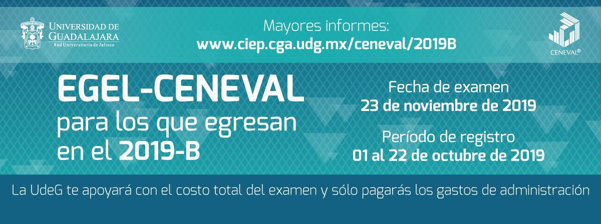 Examen Ceneval 2019B 23 de noviembre, la UdeG te apoyará con el costo del examen, solo pagarás gastos administrativos