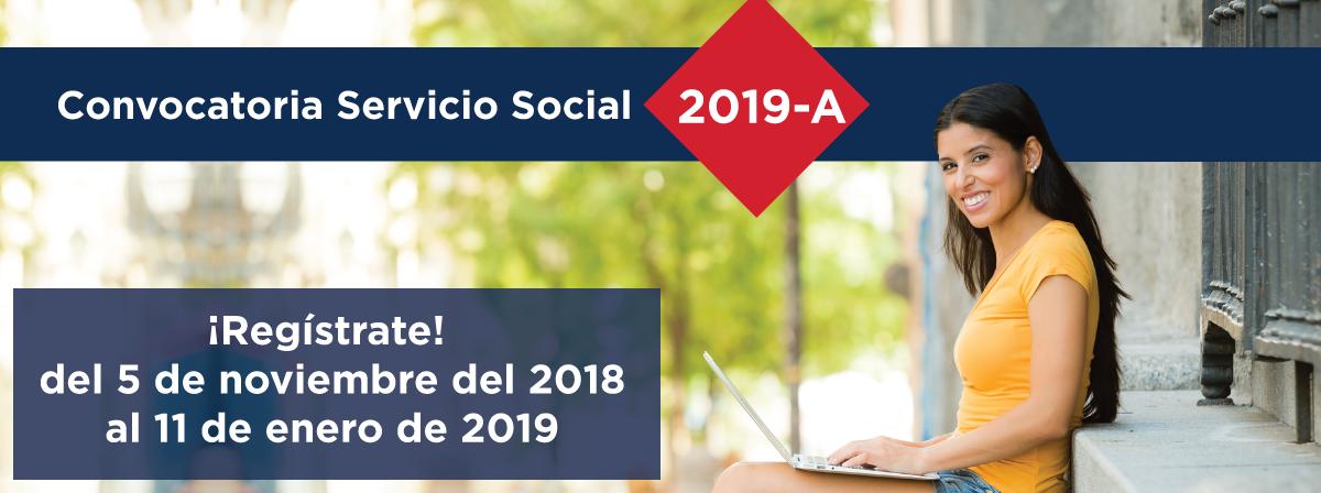 Convocatoria Servicio social 2019A, Registro del 5 de noviembre 2018 al 11 de enero 2019