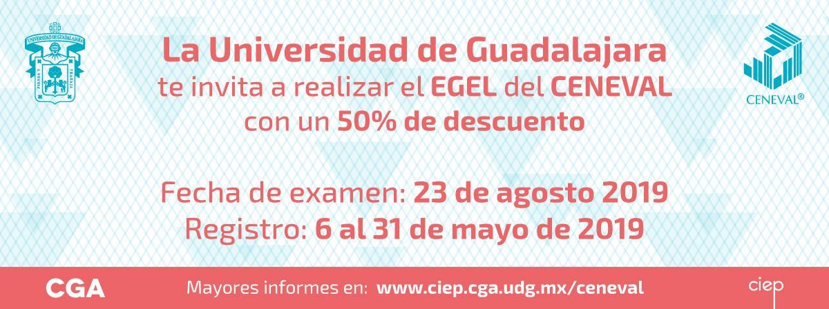 Aplicación de examen ceneval 23 de agosto, regístro durante el mes de mayo 2019