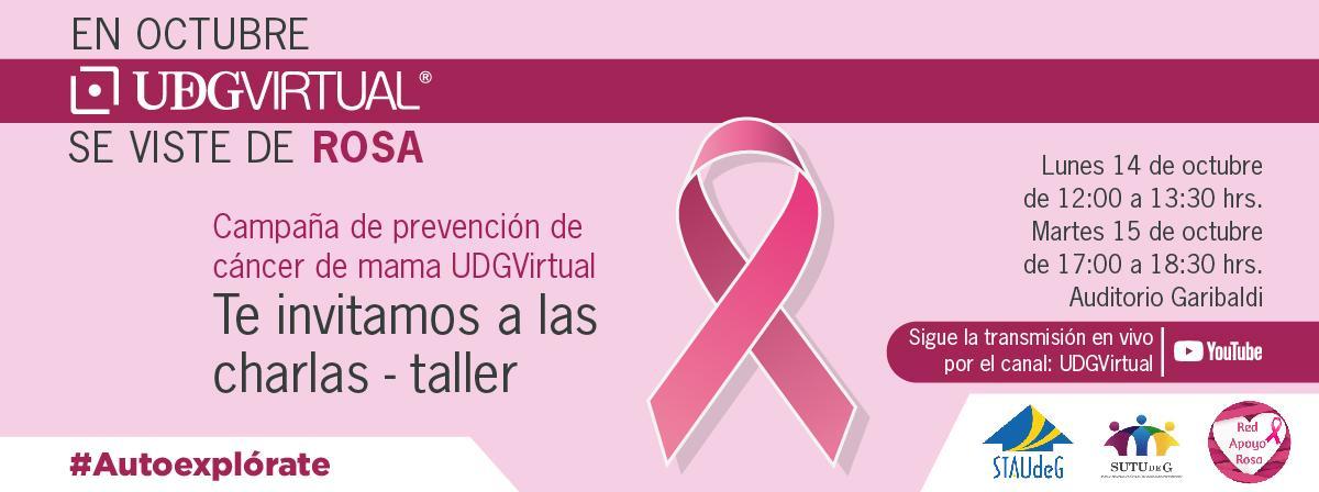 Campaña de prevención de cáncer de mama en UDGVirtual