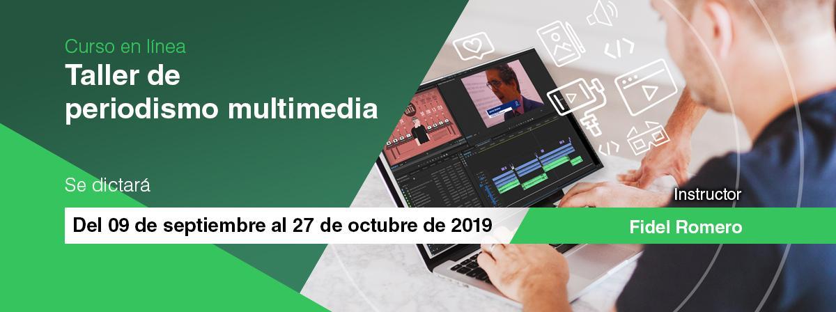 "Curso en línea ""Taller de periodismo multimedia"" inicio 9 de septiembre"