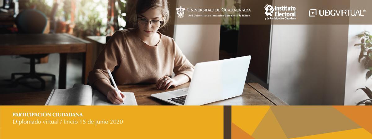 Diplomado virtual Participación ciudadana, inicio 15 de junio