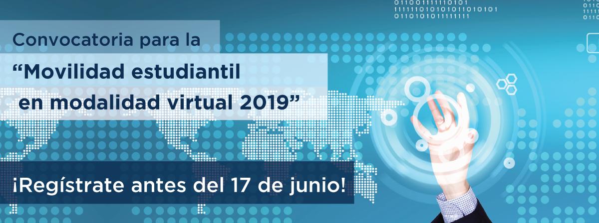 """Abierta convocatoria para la """"Movilidad estudiantil en modalidad virtual 2019"""