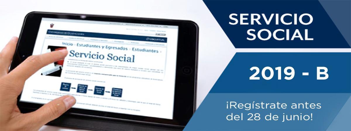 Convocatoria de Servicio Social 2019B ¡regístrate!